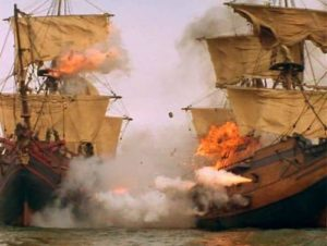 Пиратите са били голямо зло за търговските кораби.