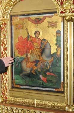 чудотворната икона в манастира Свети Георги в Поморие