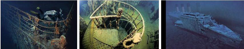 титаник под водата