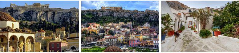 Плака живописна улица в Атина