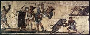 В Древен Рим най-грандиозни са битките между човек и животно