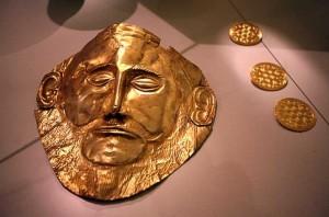 Златната маска на Агамемнон също е изработена със злато от нашето Ада тепе