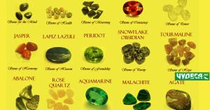 полускъпоценни минерали и камъни зелени и други за здраве
