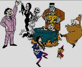 Анимационните герои от сем. Адамс
