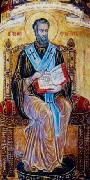 Свети Фотий държи Свещеното писание