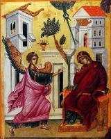 Св.арх. Гавраил съобщава благата вест на Дева Мария- икона