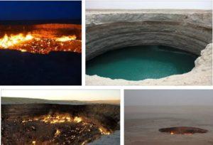 Газовият кратер Дарваза в Туркменистан