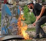 Търновски картини на кладата в знак на протест