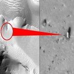 Така изглежда паметникът на Марс