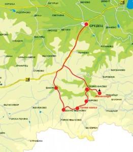 Карта на местността
