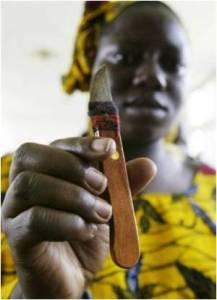 Един от инструментите за женско обрязване