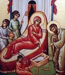 Св. Анна показва на Св. Иоаким новородената Мария