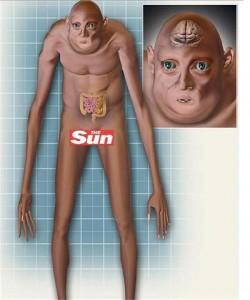 Така ще изглежда човекът от бъдещето (Снимка: The Sun)