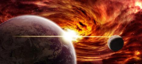 Астероид удря Слънцето: чака ни нов Всемирен потоп!