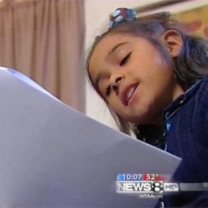 Малката Чили, която написа писмо до младежа, който я парализира