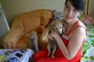 Ганка приютява четири изоставени кучета в дома си