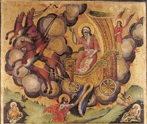 Св. пророк Илия и неговата огнена колесница