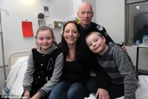 Ванеса със своето семейство