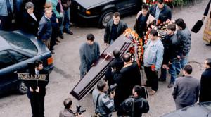 Кадър от погребението на Васил Илиев