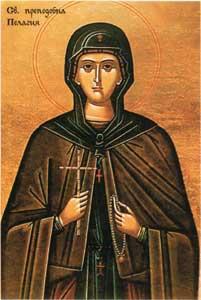Св. преп. Пелагия е пример за духовен подвиг - тържество на духа над плътта
