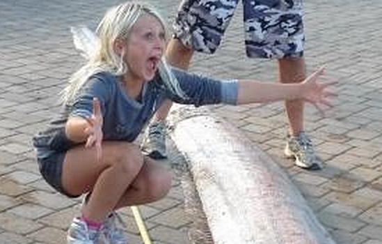 5-метрово легендарно чудовище излезе от дълбините! (СНИМКИ и ВИДЕО)