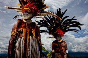Местните жители на Папуа Нова Гвинея.