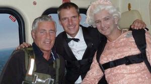 При закриване на Олимпийските игри с дубльора на кралица Елизабет Втора