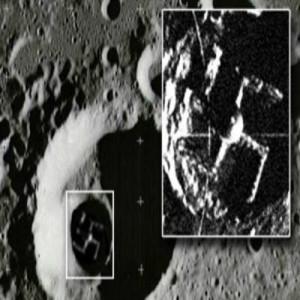 На Луната беше открита свастика?