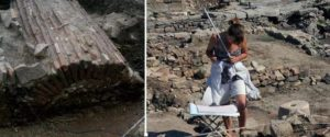 Вляво: Така изглежда вън новата римска гробница СН: Дарик; Вдясно: Разкопки край Сапарева баня.