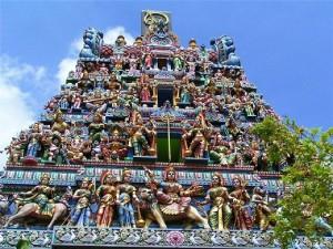 Храм посветен на богинята Кали в Сингапур - според индийската митология божество на смъртта и разрушението