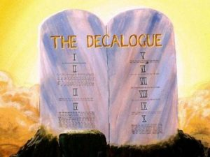10 Божи заповеди са записани в Изход 20 глава 2-17 стихове.