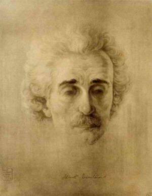 Портрет на Айнщайн, рисуван от Борис Георгиев