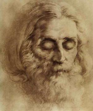 Портрет на Петър Дънов, рисуван от Борис Георгиев