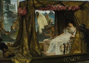 Последният фараон на Древен Египет Клеопатра и Марк Антоний – от художника Лорънс Алма-Тадема