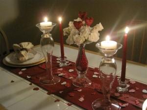 Маса за двама на Свети Валентин