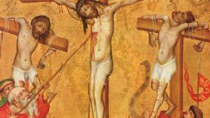 Лонгин промушил с копието Христос на кръста
