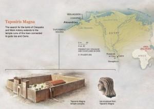 Храмът Тапосирис Магна, в който е открита възпоминателна плоча