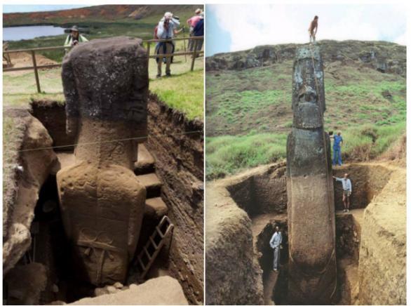 Статуи на древнобългарски жреци открити на Великденските острови?