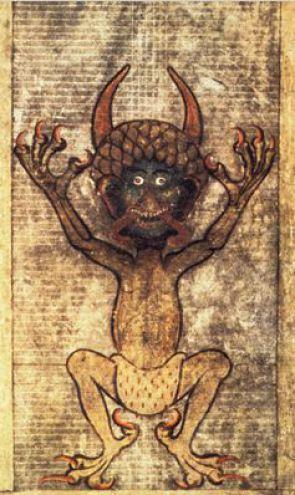 В Дяволската книга може да се открият различни илюстрации, но най-впечатляваща е тази на Сатаната, която е дълга 48 сантиметра.