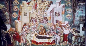 Апостолите Христови я заобиколили , молейки се за нейното спасение