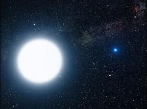 Снимка на НАСА на звездата Сириус А и на Сириус Б