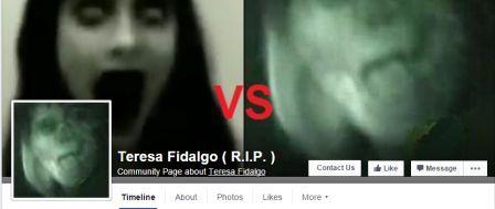 Снимки + страницата във Фейсбук Teresa Fidalgo (R.I.P.)