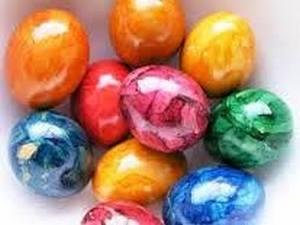 боядисване на мраморни яйца