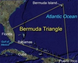 Загадъчният Бермудски триъгълник в Атлантическия океан
