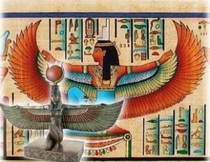 Изображение на египетската езическа богиня Изида