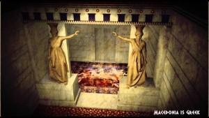Виртуална реконструкция на откритата в Амфиполис древна гробница