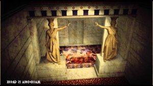 Реконструкция на откритата в Амфиполис древна гробница
