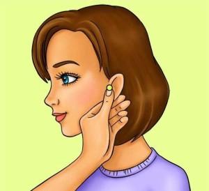 точка масаж уши към лицето