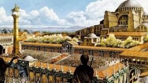 Константинопол - столицата на Римската империя се превръща в голям и важен град по идея на император Константин Велики, пръв от римските императори узаконил християнството.