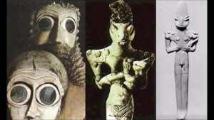 Странни фигури наподобяващи влечугоподобни същества са били открити през далечната 1919 г. в днешен Ирак.